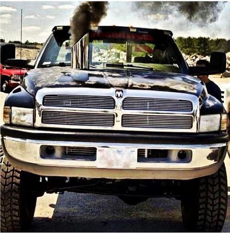 Lifted Dodge Trucks With Stacks Cummins Dodge ram cummins rollin coal