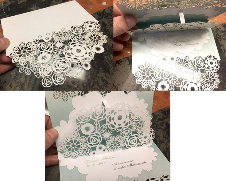 Wedding card invitation pop-up Fiori Esposizione fiera degli sposi 2017 Bergamo