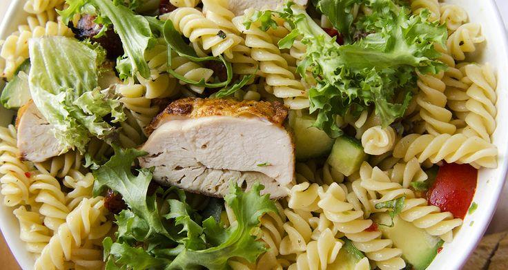 Fru Timian   En matblogg med deilig mat for hele familien   Pastasalat med kylling og avokado