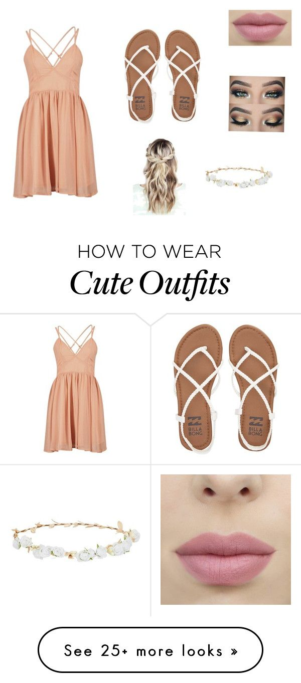 """""""Cute summer festival outfit"""" by summerharding on Polyvore featuring Billabong and Robert Rose"""