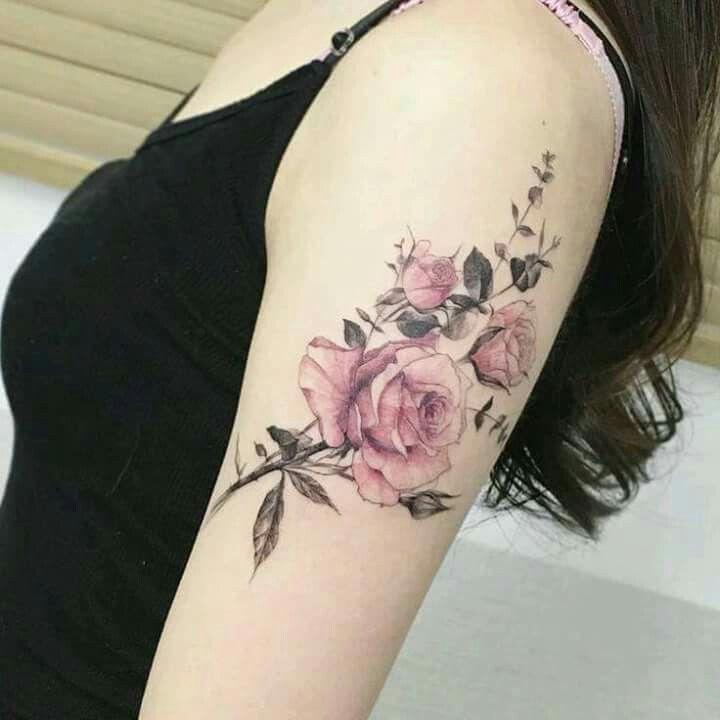 Floral, vintage tattoo