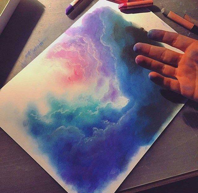 Totenart Tecnicas Para Pintar Pastel Fundido Arte De Tiza En Colores Pastel Arte En Colores Pastel Al Oleo Arte En Colores Pastel
