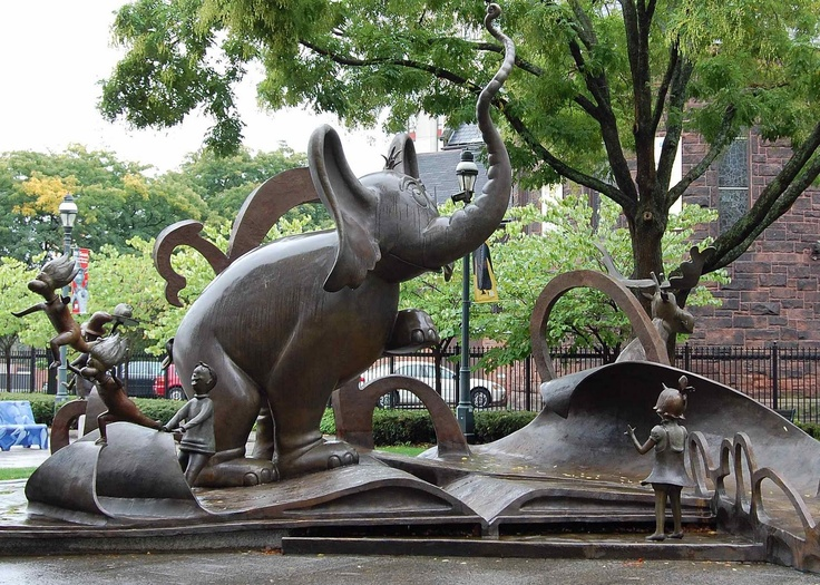 Dr Seuss National Memorial Sculpture Garden Springfield Museums Massachusetts By Lark Grey