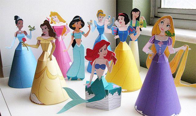 Princesas de Disney 3D para armar Gratis