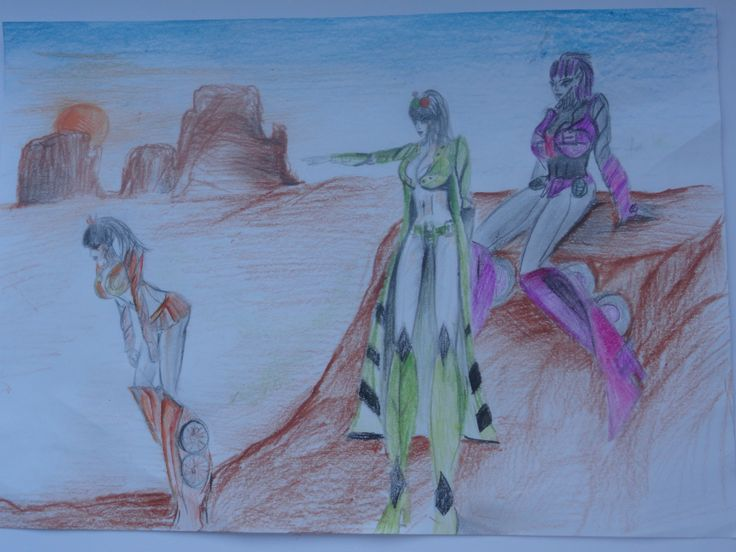 Drawing made by me !  In the picture are Adelajde Prime and Dominiq and Ivy
