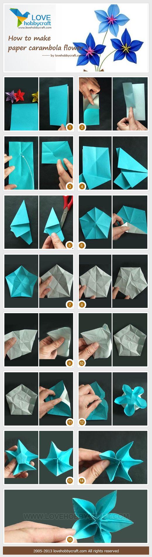 paper carambola flower