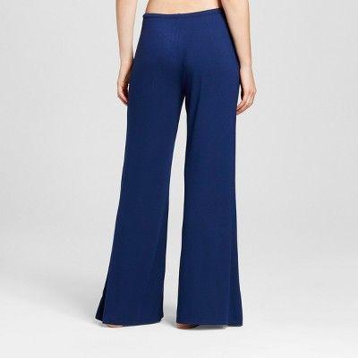 Women's Wide Leg Pajama Pants - Total Comfort - - Nighttime Blue XL - Shorts - - Merona, Size: XL Short