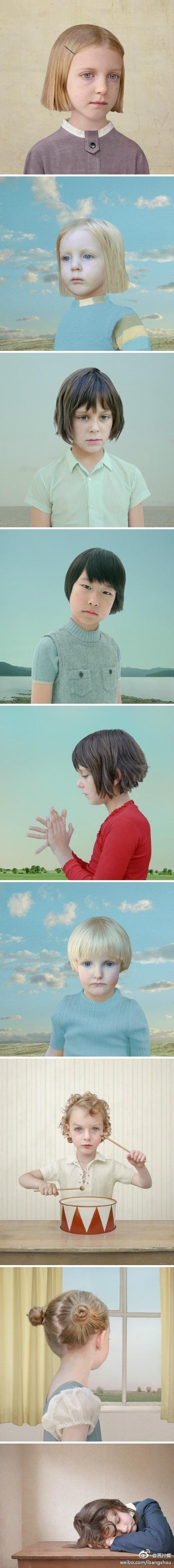 孤獨臉。如果不能被理解 也不能被好好陪伴 孤独就是自由。作者:德国的女摄影师Loretta Lux