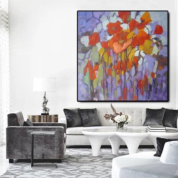 Large Acrylic Painting Hand Painted Large Canvas Art For Etsy Oversized Wall Art Extra Large Wall Art Extra Large Canvas Art