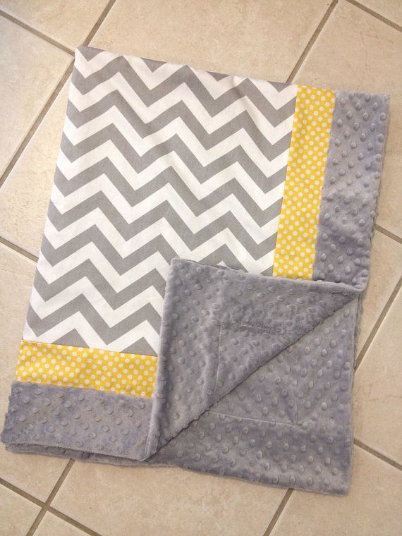 Hey, I found this really awesome Etsy listing at https://www.etsy.com/listing/179004379/baby-blanket-grey-chevron-yellow-dot