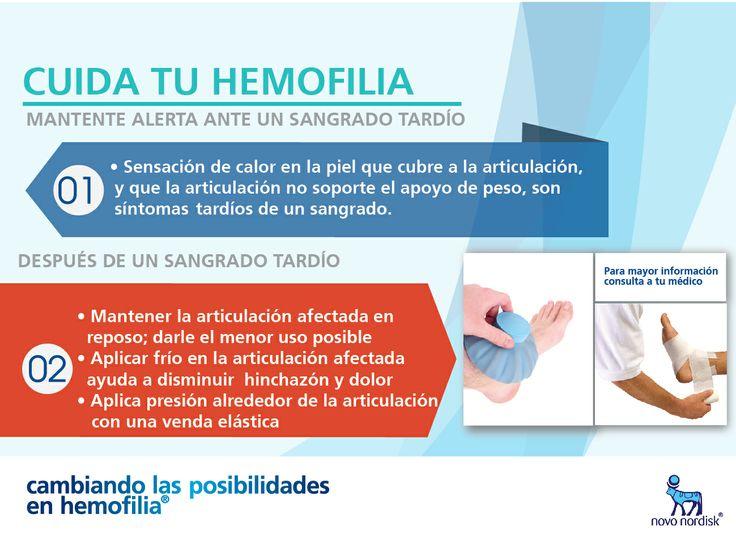 Sensación de calor en la piel que cubre la articulación, y que la articulación  no soporte el apoyo de peso, son síntomas  tardíos de un sangrado. #Hemofilia