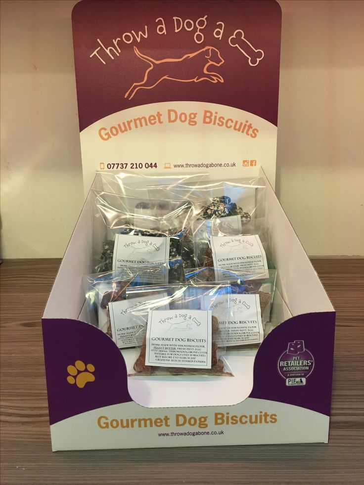 Display stands for our distributors dog treats dogs