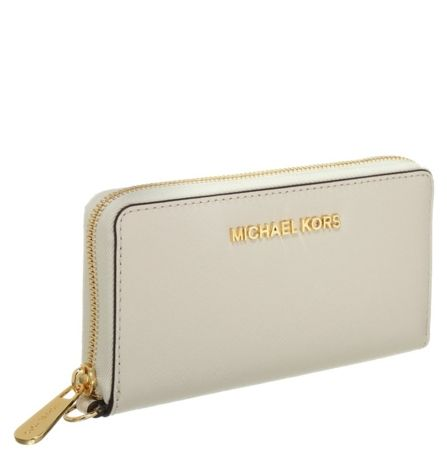 MICHAEL Michael Kors JET SET TRAVEL Portfel ecru