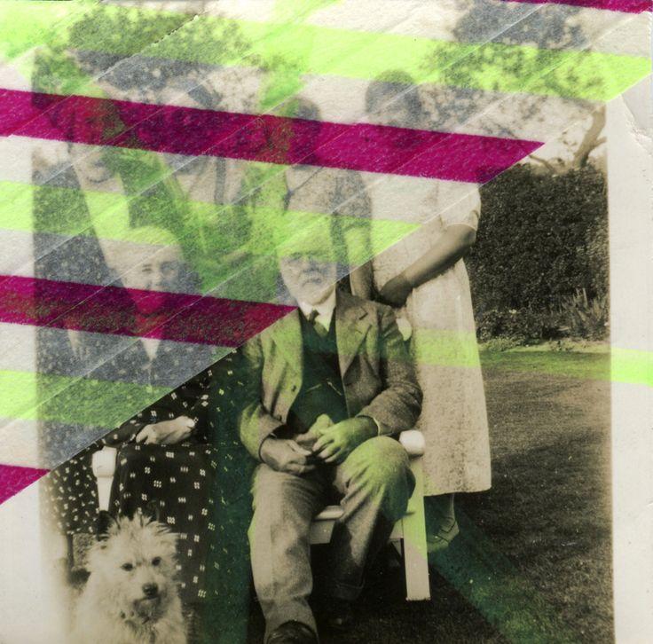 Foto Di Famiglia Antiche Decorata Con Adesivo Washi Tape