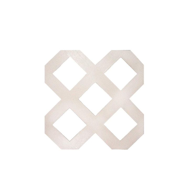 Gridworx 0.125 in. x 48 in. x 8 ft. White Traditional Plastic Lattice (2-Pack)