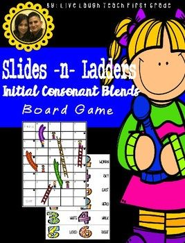 Slides N Ladders- Initial Consonant Blends Board Game  The cards can replace the spinner in the traditional Chutes and Ladders Game, or you can use the board included in the set.