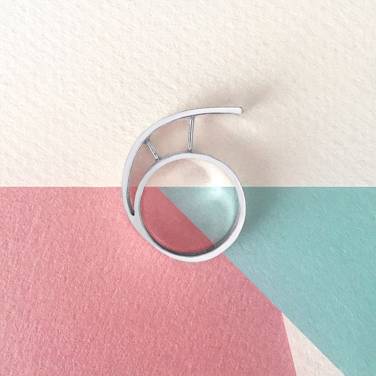 Statement ring in sterling silver. #jewelry #jewellery #ring