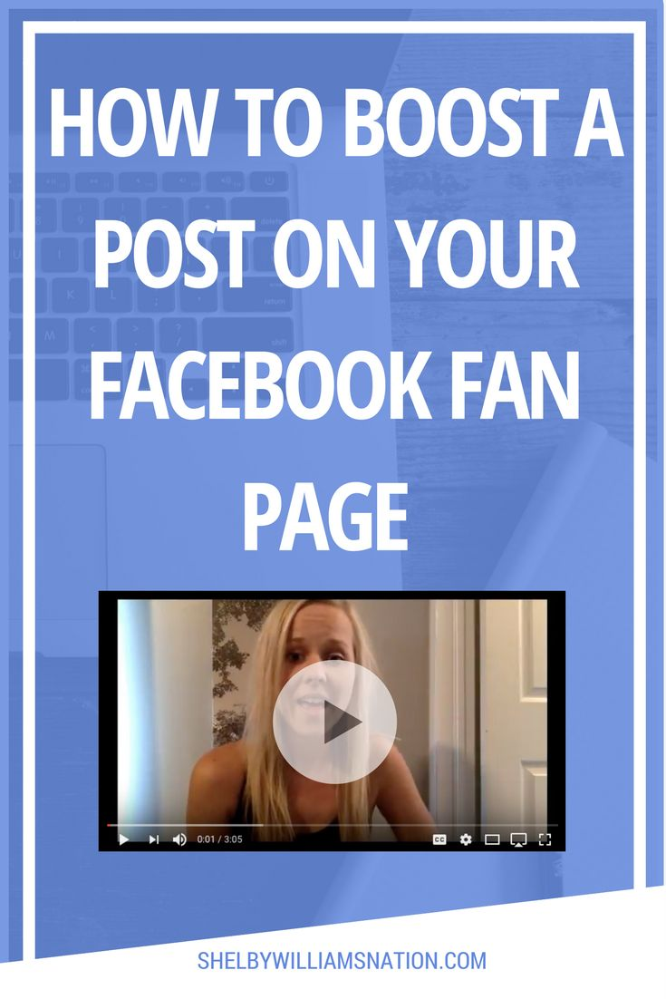 Boosting post are an easy way to reach more people that like your page and even people who don't know about your business or fan page yet.  Boosted posts appear higher in News Feed and on Instagram, so there's a better chance your audience will see them.