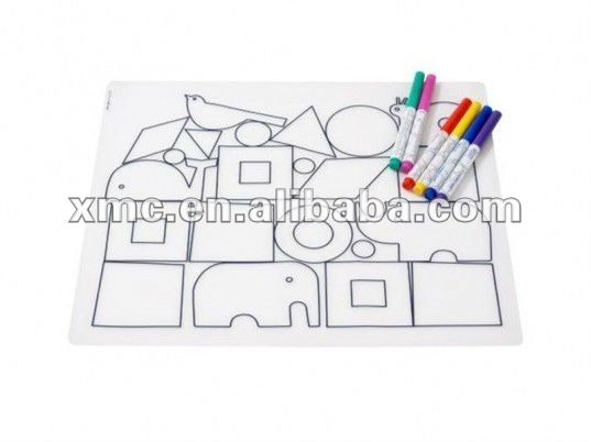 painting games cotton table mat / placemat for kids $0.25~$0.80