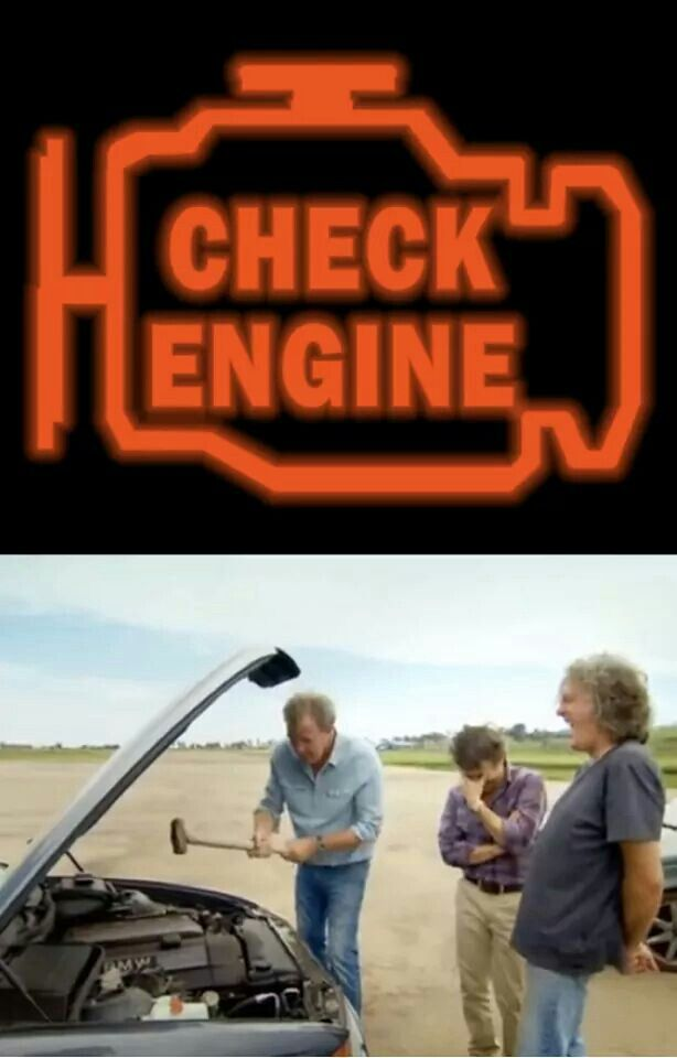 Check engine, Top Gear style (or more accurately, Jeremy style)!