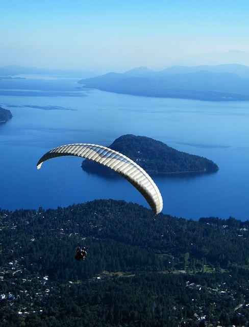 Paragliding over Cerro Otto, #Bariloche, Argentina