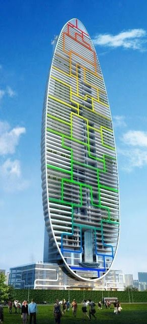Indra Tower, Mumbai, India by By James Law Cybertecture :: 80 floors