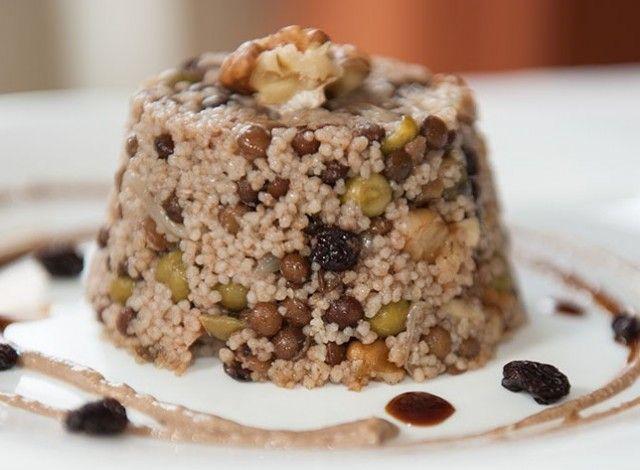 Quinoa e lenticchie nere