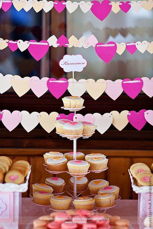 Купить Candy Bar/Сладкий стол в стиле Дамаск - розовый, свадебное оформление, свадебный декор