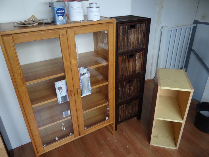 Hergebruik oude kasten voor werkruimte op zolder   TudorStyle  Opknappen meubels   Pinterest