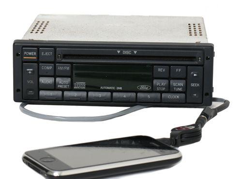 98-00 Ford Contour Mystique P100 Din Chassis Radio AM FM CD w Aux 98BB-18C815-AA