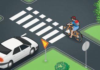Liikenneturva on laatinut neljän kohdan väistämissääntövisan, jossa voi käydä…