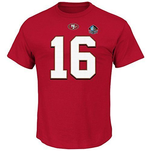 Joe Montana San Francisco 49ers Red Hall of Fame Eligible Receiver III Jersey Name and Number T-shirt Medium by VF. Joe Montana San Francisco 49ers Red Hall of Fame Eligible Receiver III Jersey Name and Number T-shirt Medium. Medium.