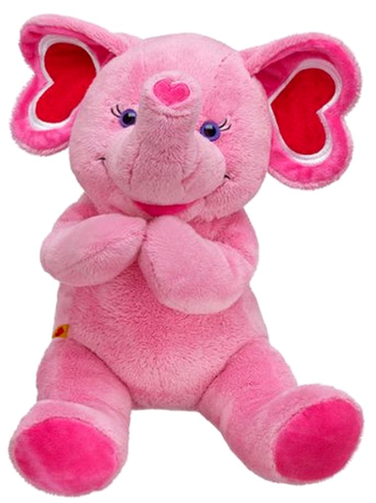 NEW Build A Bear Tons Of Love Pink Elephant 17 Inch