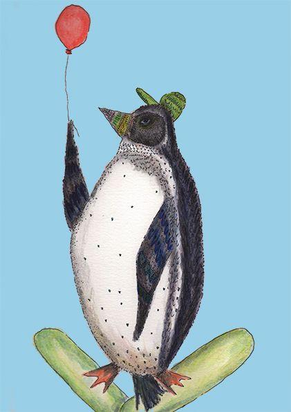 Aves emblemáticas chilenas: Pinguino Isabel Cerda www.isabelcerda.com