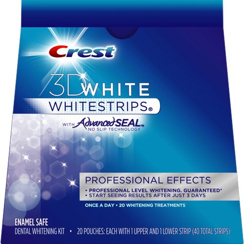 Crest 3D Whitestrips- no need to spend money getting professional whitening, these are amazing!