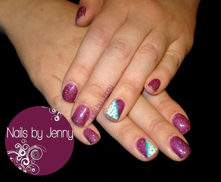 Gel Polish with Polka Dot Accents  --  Nails by Jenny in St. George, Utah