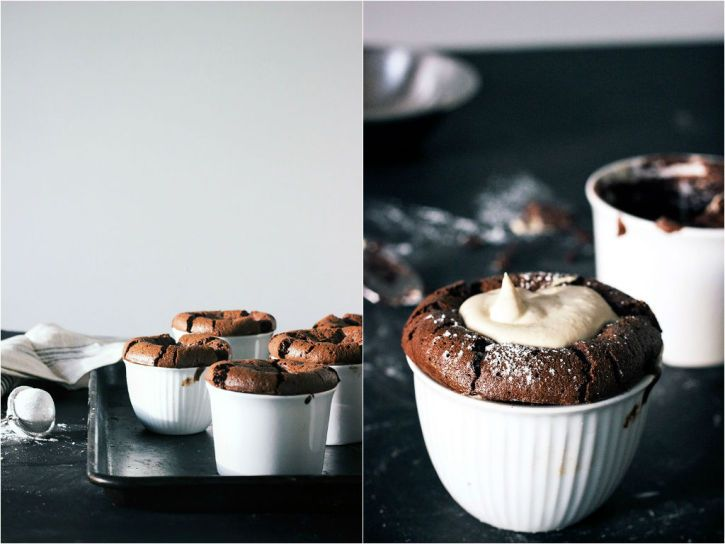French Dinner Party / Eat Boutique / Flourless Dark Chocolate Souffle w/Earl Grey Cream