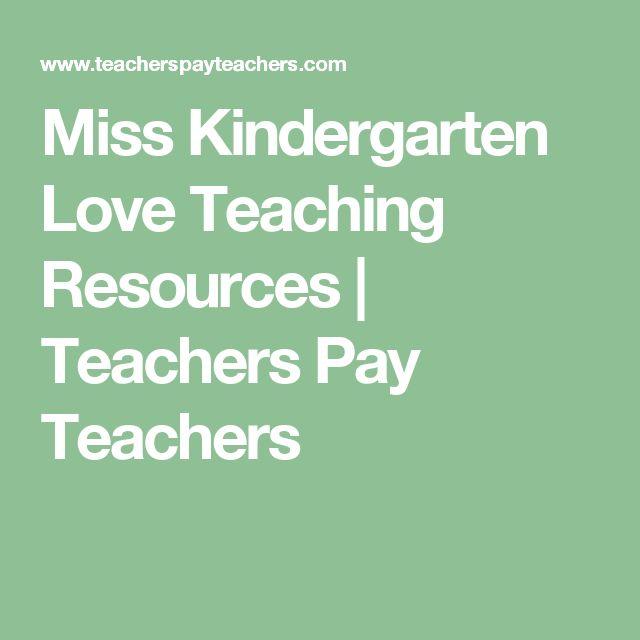 Miss Kindergarten Love Teaching Resources   Teachers Pay Teachers