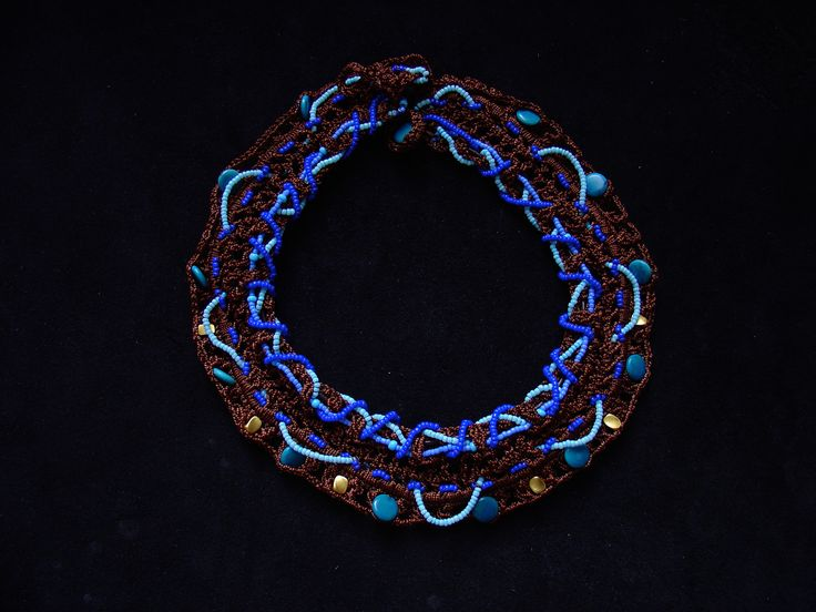 """Ethnic necklace by Maria Constanza Designs. """"This is part of my Calima collection. It's inspired in the Calima culture. Visit my website for more ethnic jewlry!"""" #fashion #ethnicaccessories #necklace #design #choker"""