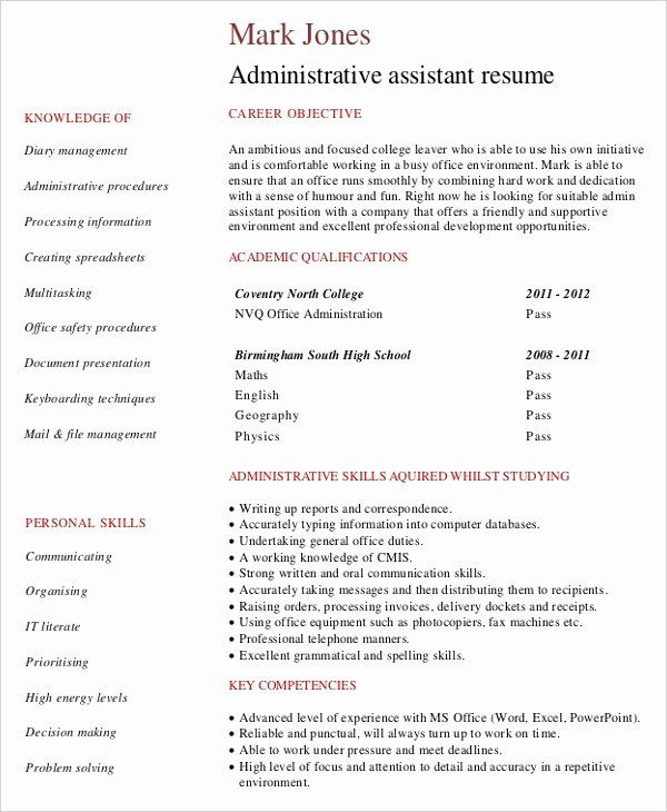 Entry Level Healthcare Administration Resume Lovely Entry Level Administrative Assi Administrative Assistant Resume Medical Assistant Resume Job Resume Samples