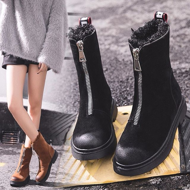 Women Boots Shoes Winter Keep Warm Snow Boots Fashion Mid