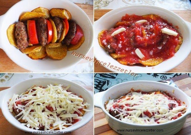 fırında domates soslu kaşarlı köfte