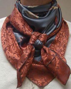 100% SILK -Wild Rag By Doris #169s Scarf Cowboy Cowgirl Buckaroo ...
