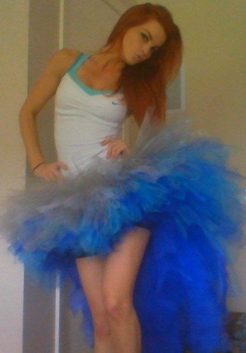 Frozen Burlesque Style Tutu Cosplay Tutu Blue Adult by DixiDressup, $90.00