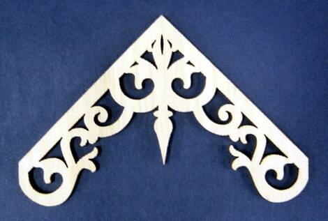 Gable pediments victorian work holiday folkloric gable for Victorian gable decorations
