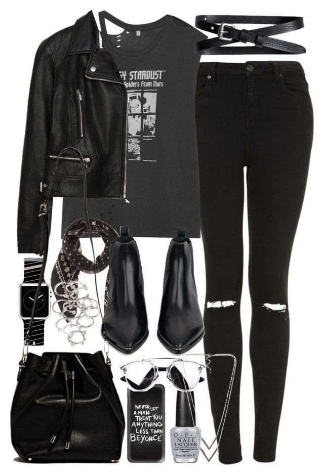 """Outfit with a Casetify Apple Watch Band and IPhone Case"" by ferned on Polyvore featuring Topshop, R13, Zara, Banana Republic, Coach, Casetify, Acne Studios, Proenza Schouler, Forever 21 and OPI"