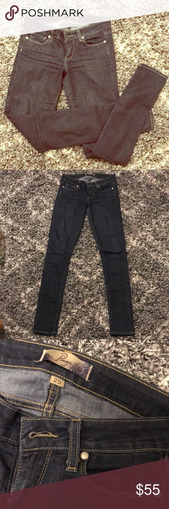 Paige peg skinny jeans Dark wash Peg Skinny fit PAIGE Jeans Skinny