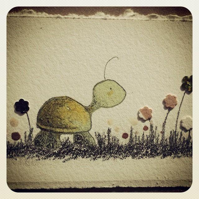 #Tortoise #Piki #Illustration #Pencil #Watercolors