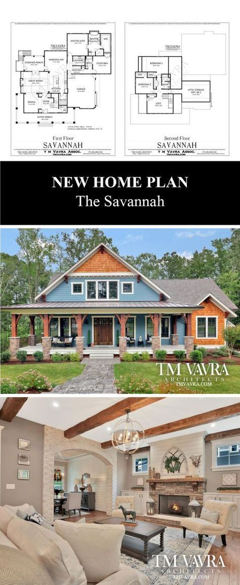 Give yourself the gift of an award-winning custom home. The Savannah is a modern craftsman-style house plan features 3,518 sq ft with a first floor master, large master bath and walk-in closet. With its own full bath, the study can also be used as a guest room or 4th bedroom. The great room opens to a large screened porch. Save on this new home plan with our introductory special of $1,295 (regularly $2,395) now through December 31, 2017.