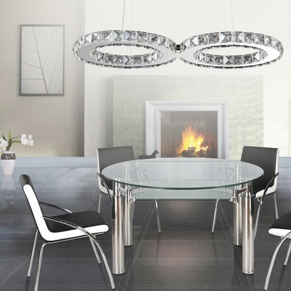 Modern chandelier 24w led hanging light fixtures adjustable led chandelier light
